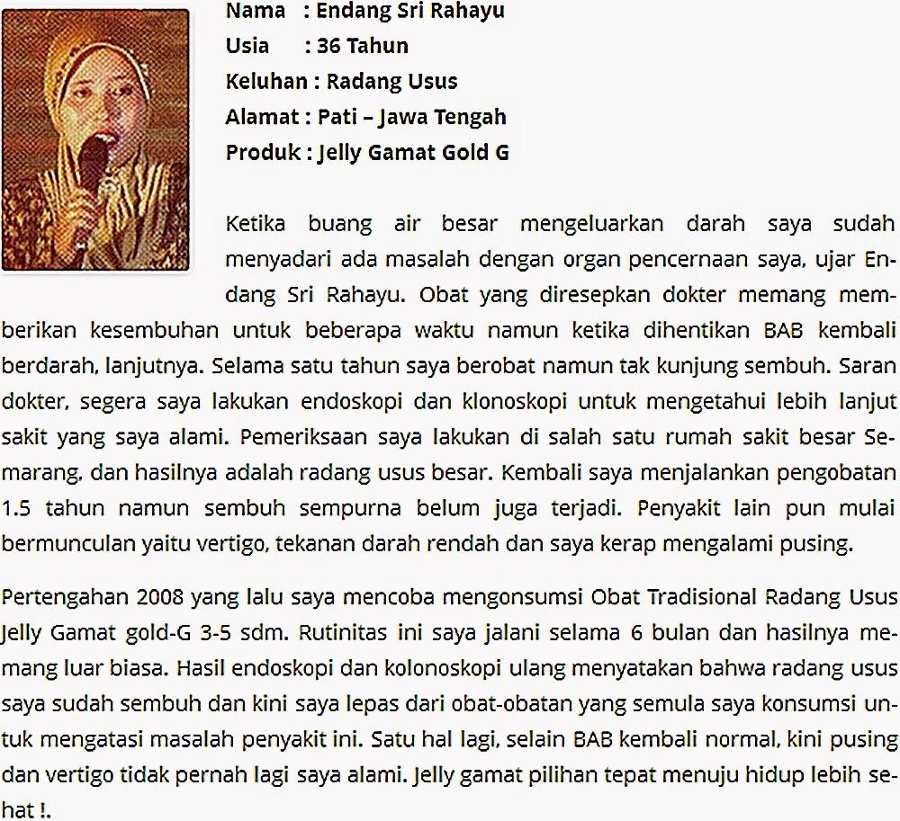 Testimoni Jelly Gamat Gold-G